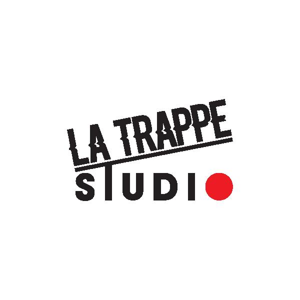 Logo pour le Studio de musique La trappe Studio réalisé par Grégoire Duruflé Graphique & Web Designer basé à Montréal